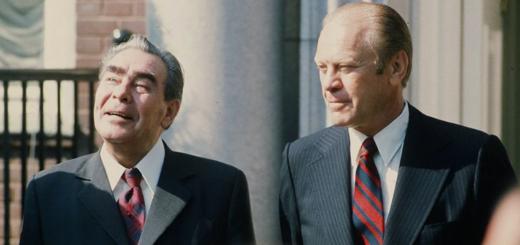 Brezhnev and Ford